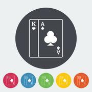Play card icon - stock illustration