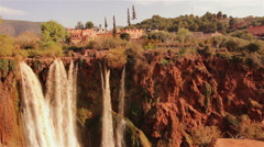 Ouzoud Waterfalls in the Grand Atlas village of Tanaghmeilt. Stock Footage