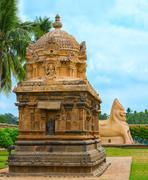 View at detail Hindu Temple dedicated to Shiva, ancient Gangaikonda Cholapura Stock Photos
