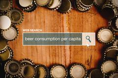 Beer consumption per capita - web search bar glossary term. - stock photo