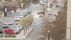 Salt Lake City street spring Stock Footage