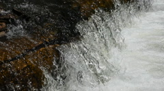Mountain stream river waterfall close ultra slow motion HD - stock footage