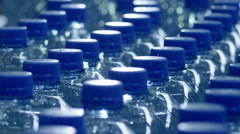 conveyor for bottling pure water 1 - stock footage
