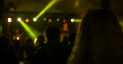 Dancing during a rock concert Stock Footage