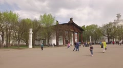 VDNKH All-Russian exhibition center. Stock Footage