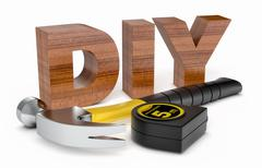 Hardware tools, concept of diy Stock Illustration