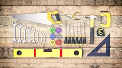 hardware tools, concept of diy - stock illustration
