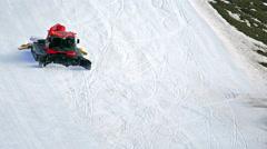 Ratrac on a ski slope Stock Footage