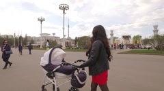 VDNKH All-Russian exhibition center. - stock footage
