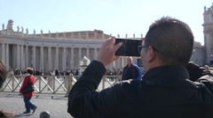 Rome Tourist take a photo picture of Vatican - Residence of the Pope Stock Footage