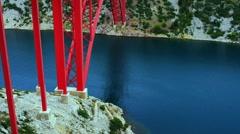 The Maslenica Bridge of Croatia Stock Footage