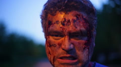 CLOSE zombie infection zombified - stock footage
