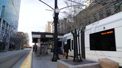 Salt Lake City train platform Stock Footage