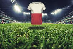 Vintage ohiti of stadium, close up on grass Stock Photos