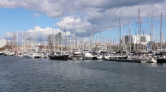 Winter view of Port Vell Stock Footage