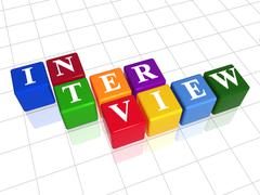 Interview in colour 2 Stock Illustration