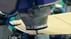 Aircraft industry. Robotic complex for machining composite materials. Stock Footage