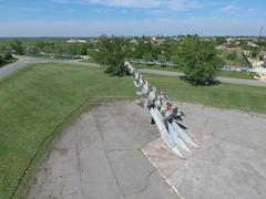 Monument to the fighter aircraft - stock photo