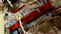 Aircraft building. The electric wiring of the passenger plane. Stock Footage