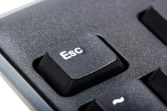 Electronic collection - detail black computer keyboard - stock photo