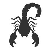 Scorpion Animal Isolated on White Background Stock Illustration