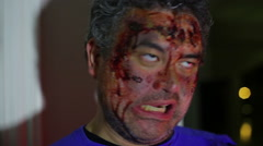 injury or zombie zombiefied person - stock footage