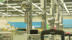 Surveillance mirrors in the supermarket. Stock Footage