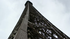 Beautiful Eiffel tower and blue sky Stock Footage