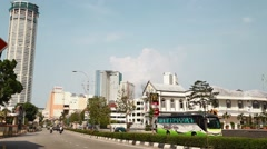 Wide shot of the komtar building Stock Footage