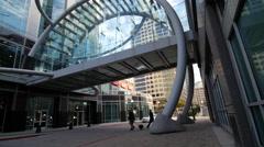 Salt Lake City glass building wide - stock footage