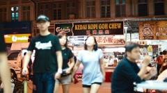 Side angle at penang street food -kedai kopi gohchew Stock Footage