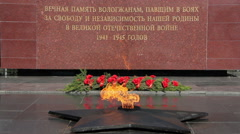 Vologda.Russia.Memorial-the eternal flame. - stock footage
