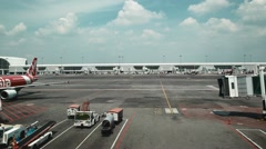 Outside of a modern Malaysian airport Stock Footage