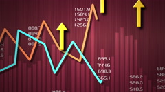 Business chart success in business. - stock footage