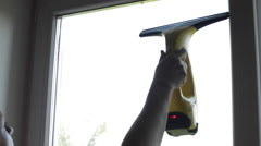 Women Cleans Apartment With a Cloth and Detergent Cleaner - stock footage