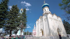 Great monasteries of Russia timelapse hyperlapse. The Trinity-Sergius Lavra Stock Footage