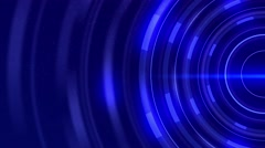 Spinning Blue Glowing Energy Tech Rings 4K UHD Stock Footage