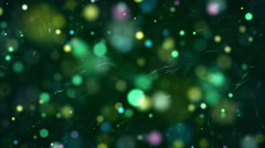 Colorful & Green Colored Bokeh Orb Particles 4K UHD Stock Footage