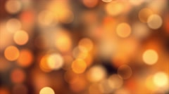 Warm Golden Yellow & Orange Soft Bokeh Orbs 4K UHD Stock Footage