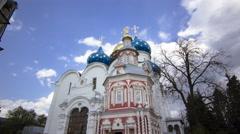Great monasteries of Russia timelapse hyperlapse. The Trinity-Sergius Lavra Stock Footage