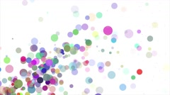 Vibrant Multicolored Floating Bokeh Bubble Animation Stock Footage