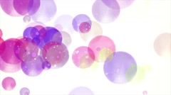 Large Peaceful Pink, Purple, Blue, Red & Yellow Bokeh Orb Shapes Stock Footage