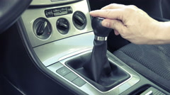 Shifting through gears of modern car VIINTAGE Stock Footage