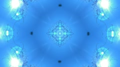 Kaleidoscope natural light effect blue, abstract texture 1080p - stock footage