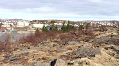 ICELAND, Hafnarfjordur, Overview . Stock Footage