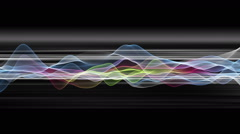 Fantastic animation with wave object in motion and stripes, loop HD 1080p Stock Footage