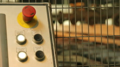 Control line for wood processing.Woodworking . - stock footage