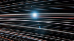 Futuristic animation with particle stripe object and light, loop HD 1080p Stock Footage