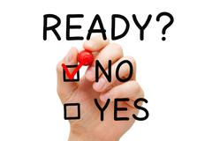 Ready No Yes Check Mark Concept - stock photo