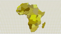 African State Animation Stock Footage